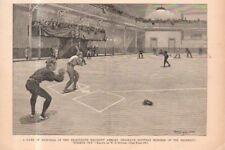 1890 Harpers Weekly Indoor Baseball in Brooklyn