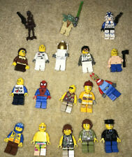 Lot OF 18 Lego Minifigures - Star Wars, Spiderman, Spongebob