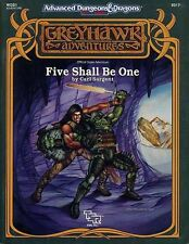 WGS1 FIVE SHALL BE ONE w/MAP EXC+! Greyhawk Module Dungeons Dragons D&D TSR AD&D