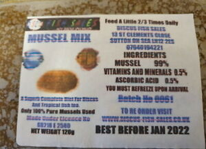 Discus Mussel Mix 5x 120g Packs Better Than Beefheart. Unavailable anywhere else