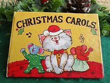 VINTAGE 1980'S CAT ON COVER CHRISTMAS CAROLS MINI SONG BOOK CHRISTMAS ORNAMENT