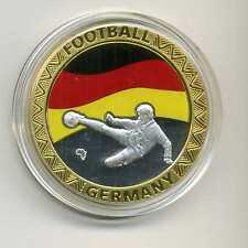 Farb Medaille Fußball Deutschland 2010 in Süd Afrika M_558