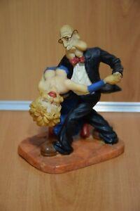 """Ballerini """"Ballo di Coppia"""" Statua Statuetta Vintage da Collezione Originale"""