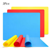 3 Pcs Silicone Sheets for Crafts Casting Moulds Mat Food Grade Silicone Placemat