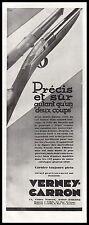 PUBLICITE   FUSIL DE CHASSE VERNEY CARRON  HUNTIG GUN  AD  1929 -1H