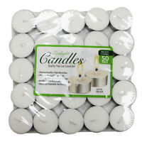 Tea Light Candles - 50 Pieces - White Unscented, 2.5 hours burn time