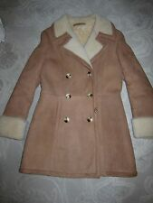 Vintage Orvis VT Sawyer Napa Leathers classic shearling coat - AS IS, ladies' 14