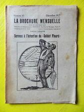 Anarchie La Brochure Mensuelle 60 1927 Lucien Léauté Le Soldat Pinard