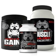 3 PACK MUSCLE STACK (VITA BULLY : GAINS : MUSCLE BUILDER) *AUTHORIZED SELLER*