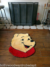 Winnie the POOH bear head animal rug carpet hook latch piglet cartoon vtg hook t