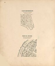 Le Sueur County Minnesota Atlas 1928 plat maps Genealogy history P154