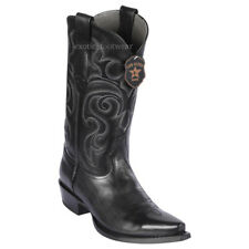 Men's Los Altos Genuine Pull Up Leather Cowboy Western Boots Snip Toe