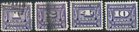 Canada #J11-J14 used VF 1933-1934 Third Postage Due Issue Set CV$31.75