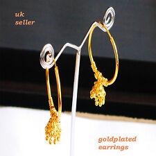 Gold Plated Twist Hoop Earrings solid fashion earring UK h28