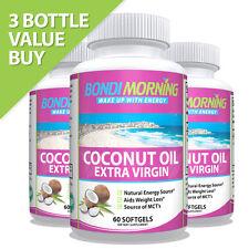 Bondi Morning Organic Coconut Oil Capsules 1000mg - 100% Extra Virgin Supplement