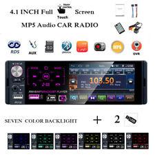 4''1 Din Car Radio 2USB Full Touch Screen AM RDS Bluetooth FM MP5 Player Camera