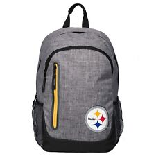 Pittsburgh Steelers BackPack Back Pack Book Sports Gym School Bag Heather Grey