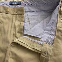 "Peter Millar 34 x 9"" Khaki 100% Pima Cotton Twill Casual Shorts"