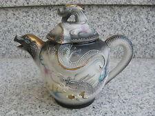 THEIERE SATSUMA Porcelaine Japonaise DRAGON EN RELIEF 15,5 cm haut