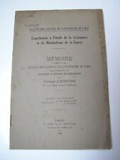 L'Héritier : Etude de la croissance et du métabolisme de la souris 1930