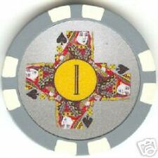 5 pc 5 colors 11.5 Royal Queens Cross poker chips samples set #34