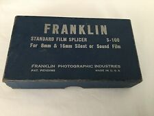 Vintage Franklin Standard Film Splicer 8mm 16mm film in box
