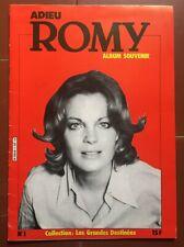 Magazine ADIEU ROMY Album Souvenir, Collection Les Grandes Destinées n°1 *