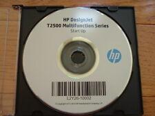 Original Start-Up disk for HP DesignJet T2500 Plotters.Drivers,Manuals,DVD
