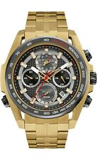 Bulova Precisionist Men's 98B271 UHF Quartz Chronograph Gold-Tone 48mm Watch