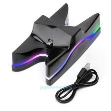LED Dual USB Charger Charging Dock Station Stand for Playstation PS4 Controller