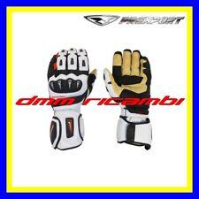 Guanti Moto in pelle racing PREXPORT GP PRO S Tg.L Bianco Rosso Strada Motard