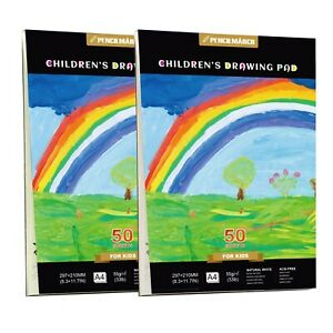 Children's Sketch Drawing Pad A4*50*2 Sheets Kids Watercolour Paper Art Craft