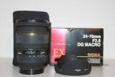 Sigma 24-70mm f/2.8 DG ex lente para Sony 1 año de garantía