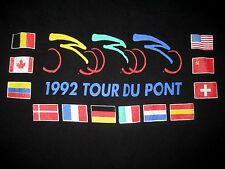 1992 Tour DuPont T-Shirt Black Hershey Kiss Pennsylvania Poconos L Cycling USA
