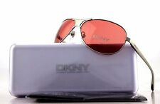 RARE NEW Genuine DKNY Donna Karen New York Silver Rose Sunglasses DY5034 1029/75