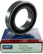 6302 2RS SKF Deep Groove Bearing - 2RSH -  2 Rubber Seals - 15mm x 42mm x 13mm