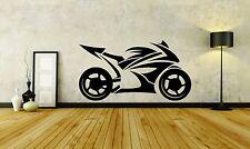 Wall Sticker Decal Vinyl Decor Motorcycle Speed Racer Fire Honda Sport