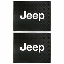 Classic Style 2 piece Rear Utility Rubber Floor Mats Universal-fit for Jeep