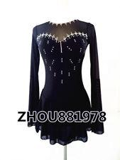 Custom Black Ice Figure Skating Dresses skating costumes For Adults or Girls