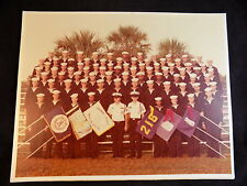 "Vintage NAVAL GRADUATION PHOTO 14""x11"" 1979 NAVY RTC Orlando Florida Company 216"