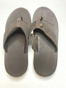 Rainbow flip flop thong size 4/5 brown
