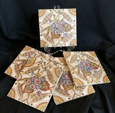 Antique Ceramic Decorative Tiles (6) English, ca 1890's