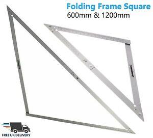 "Aluminium 48"" & 24"" Folding Builders Angle Floor Square Measuring Ruler & Bag"
