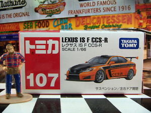 TOMICA #107 LEXUS IS F CCS-R 1/66 SCALE NEW IN BOX
