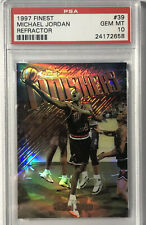 1997-98 Finest Refractor Michael Jordan PSA 10 Gem Mint Finishers #39.