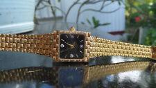 Vintage Ladies Diamond Gold Oleg Cassini Watch 31-528-DB