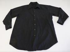 Claiborne Mens Size 16 32/33 Grey & Black Striped Dress Shirt Great Condition