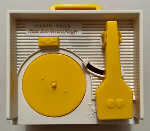 Vintage 1971 Fisher Price Music Box Record Player w/Original 5 Records - Great!