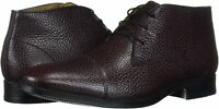 Driver Club USA Men's Geuine Leather Boot with Captoe, Wine Grainy, Size 12.0 jL