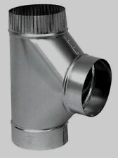"""Imperial Furnace Pipe Full Flow Tee 6""""x  6"""" x 6"""" Cooling 26 Ga Galvanized GV0892"""